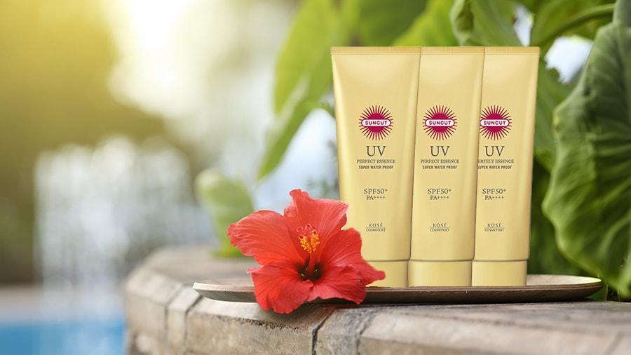 Chống nắng dạng tinh chất Kosé Cosmeport UV Protect Essence Super Waterproof SPF 50+/PA++++ 60g