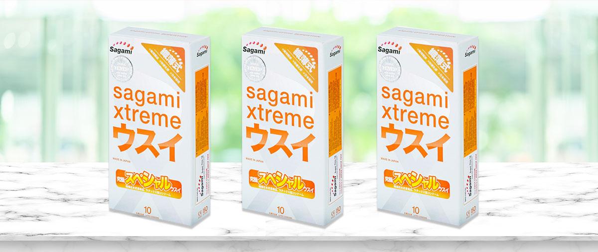 Bao cao su Sagami Xtreme Superthin Hộp 10 cái.