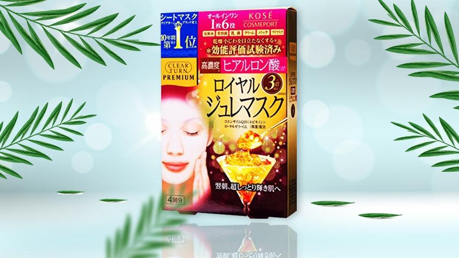 Mặt Nạ Sữa Ong Chúa Đa Năng Kosé Cosmeport Clear Turn Premium Royal Jelly Mask Hyaluronic Acid 120ml