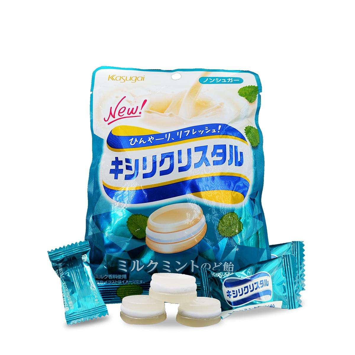 kẹo ngậm thảo mộc không đường vị sữa kasugai