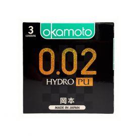 Bao Cao su Okamoto 0.02 PU Siêu mỏng Truyền Nhiệt Nhanh Hộp 3 Cái