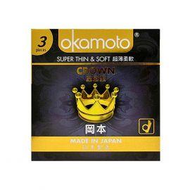 Bao Cao Su Okamoto Crown Kích Cở Nhỏ  Siêu Mỏng Và Mềm Mại Hộp 3 Cái