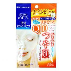 Mặt Nạ Dưỡng Trắng Da Kosé Cosmeport Clear Turn White Mask Q10