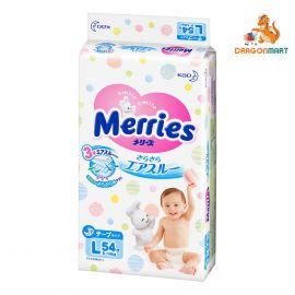 Bỉm - Tã Dán Merries Size L 54 Miếng